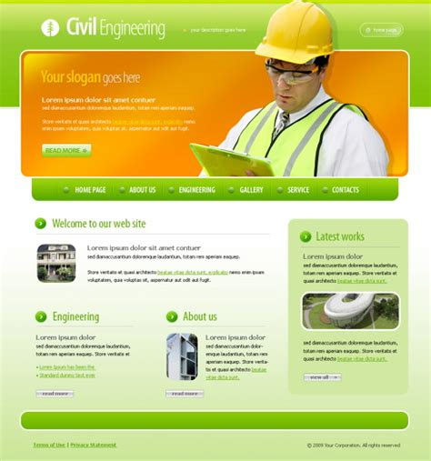 Simple Construction Html Template by Construction Html Template 4385 Construction