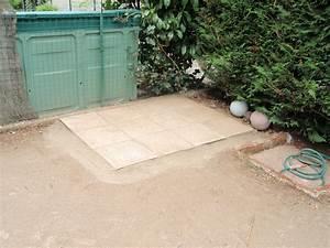Pose Abri De Jardin Sur Dalle Gravillonnée : dalles sur lit de sable karkace ~ Dailycaller-alerts.com Idées de Décoration