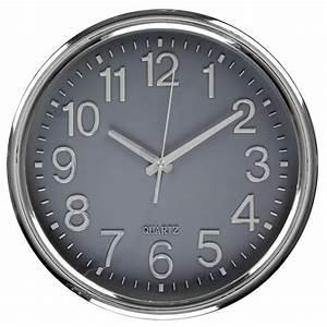 Horloge Murale Silencieuse : horloge murale silencieuse design cadran gris ebay ~ Melissatoandfro.com Idées de Décoration