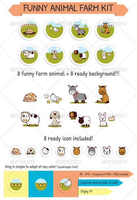 farm animal icons  dondrupcom