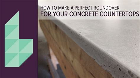concrete countertops perfectly rounded edges