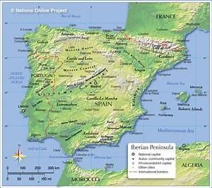 Image Gallery iberia on world map