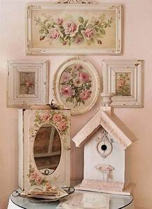 25 best ideas about shabby chic wall decor on pinterest for Kitchen cabinets lowes with red rose wall art