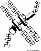 Coloring Space Satellite Colouring Valutazioni sketch template
