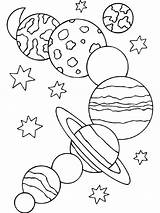 Coloring Planets Solar System Sheet Printable sketch template