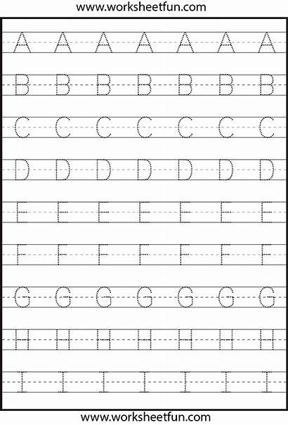 Tracing Letter Capital Worksheet Printable Letters Calligraphy