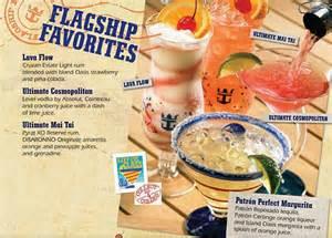 royal caribbean bar drink menu cruise critic