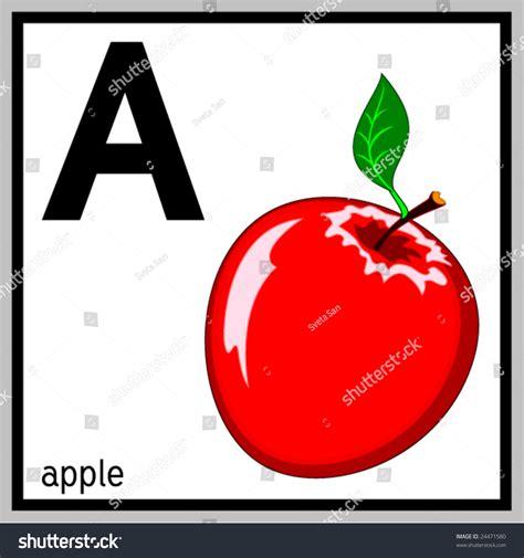 vector illustration apple english letter  stock vector