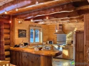 cuisine de chalet chalet en bois rond a vendre mzaol com