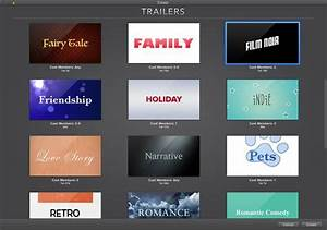 how to create imovie 10 trailers macworld With trailer templates for imovie