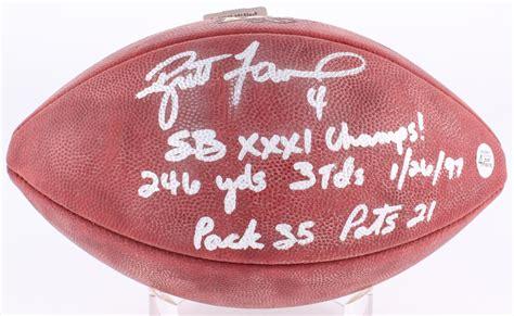 Brett Favre Signed Super Bowl Xxxi Logo Official Nfl Game
