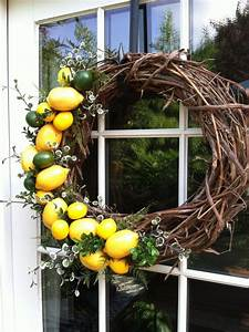 This, Lemon, Lime, Wreath, Is, Beautiful, On, A, Front, Door, Or