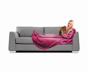 plaid polaire couverture confort avec manches longues et With tapis de course avec plaid luxe pour canapé