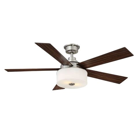 ceiling fan light remote home decorators collection lindbrook 52 in indoor brushed