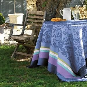 Nappe Jacquard Français : nappe nappes de table provencale bleu ~ Teatrodelosmanantiales.com Idées de Décoration