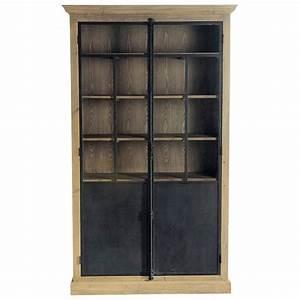 Vitrine En Bois : vitrine en bois recycl l 130 cm voltaire maisons du monde ~ Teatrodelosmanantiales.com Idées de Décoration