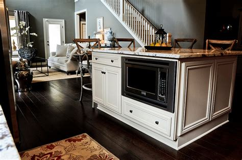 microwave in island in kitchen kitchen island and microwave signature homes flickr 9160
