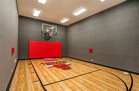 indoor basketball courts homes   rich
