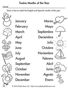 13 best images of spanish printable months of year worksheets matching spanish months of the