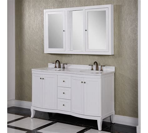 bathroom vanity mirror cabinet accos 60 inch white double bathroom vanity cabinet with