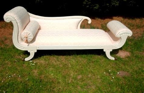 chaise cagne chic shabby chic white chaise longue day bed sofa ebay