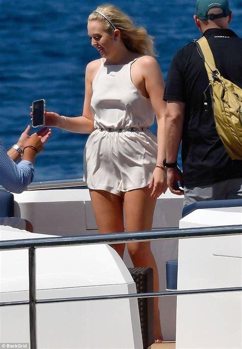 Tiffany Trump and mom Marla Maples wear white in Capri ...
