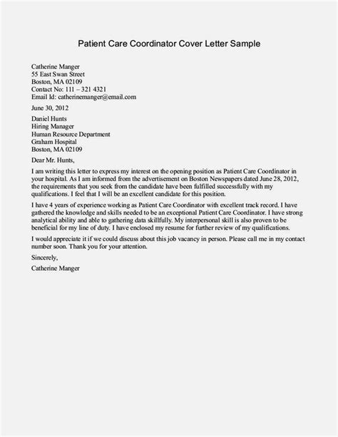 exles of cover letter for nurses returning to the
