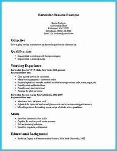 bar back resume resume ideas With barback resume