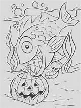Coloring Pages Piranha Leech Template Bogleech sketch template