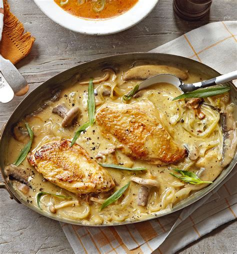 dijon cuisine mustard and tarragon chicken