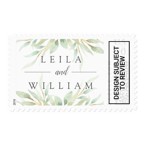 Airy Botanical Wedding postage Botanical wedding theme