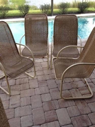 Vintage 1970s Lloyd Flanders Retro Wicker 4 Chairs Rare