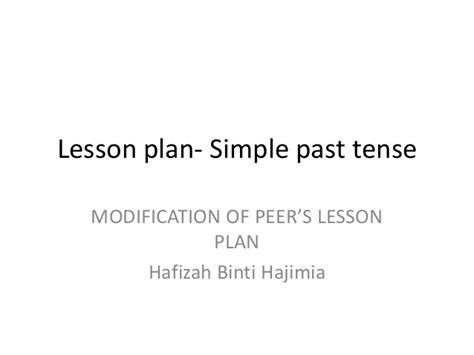simple past tense lesson plan