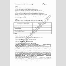 An Inconvenient Truth  Esl Worksheet By Roberta55