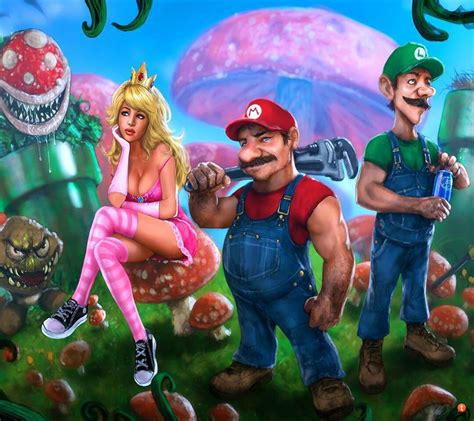 Princess Peach Mario And Luigi Characters In Real Life