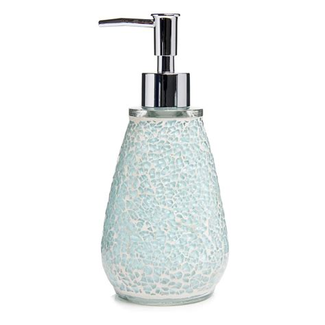 Aqua Crackle Glass Bathroom Accessories by Aqua Sparkle Mosaic Bathroom Accessories Set Ebay