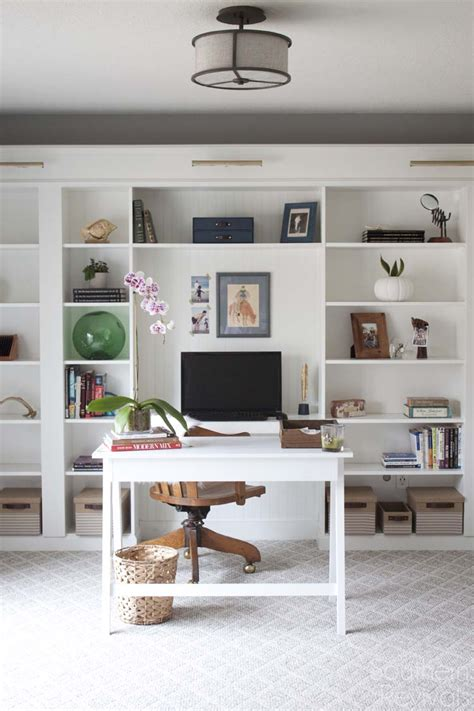 Ikea Hacks Bookcase by Office Makeover Reveal Ikea Hack Built In Billy