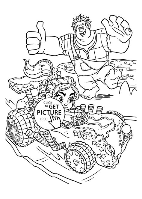 nice sweet car coloring pages  kids printable  wreck  ralph coloing kidscom