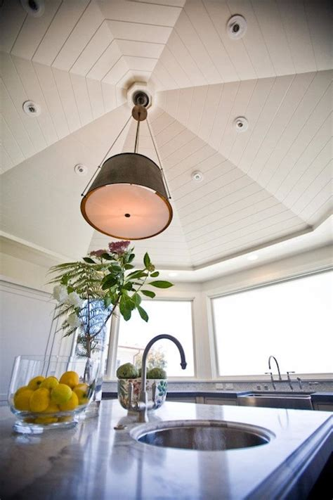 vaulted hexagon ceiling traditional kitchen andrea