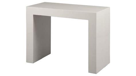 console bureau extensible console extensible blanc laqué 3 allonges console design