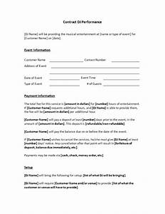 Dj Services Contract Are You Hiring A Diskjockey For An