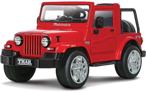 mahindra thar thar ride on battery operated car for kids