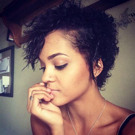 short cut for natural hair biracial curly cut mixed