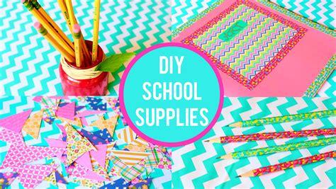 Diy School Supplies! 2015 Back To School Youtube