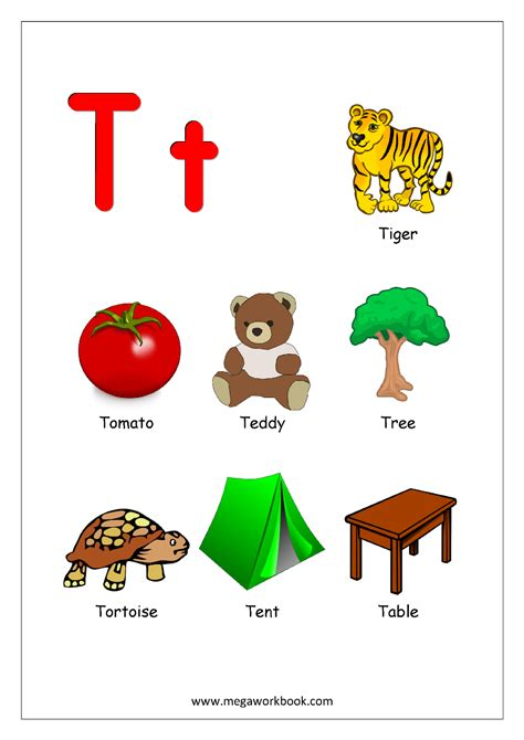 things that start with letter t with objects that free printable worksheets alphabet reading 33428