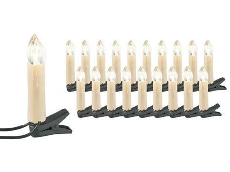 Guirlande LED de sapin de Noël, 20 lampes bougies avec