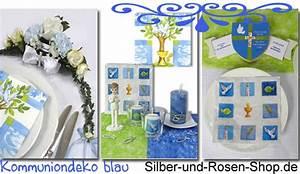 Tischdeko Kommunion Junge : blaue kommuniondeko silber und rosen shop ~ Orissabook.com Haus und Dekorationen