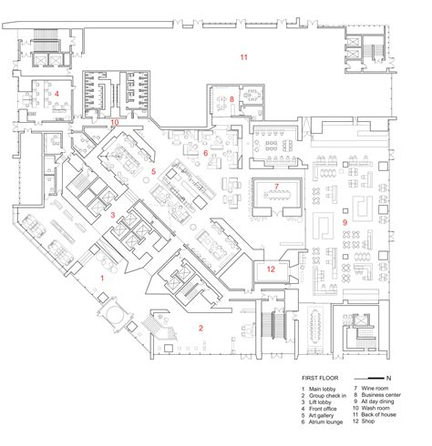 restaurant le bureau plan de cagne galeria de hotel le meridien zhengzhou neri hu design and research office 9