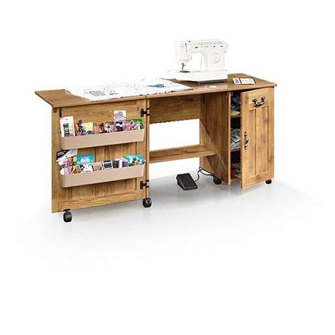 Sauder Sewing Craft Cabinet by Sauder Sewing And Craft Table Drop Leaf Shelves Storage
