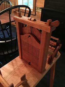 cherry treadle tape loom - FineWoodworking